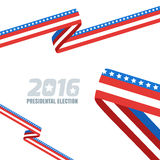 Abstract vector background with ribbon in colors of national united states flag. Concept for USA Presidential election 2016. Vote and election banner design Royalty Free Illustration