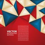 Abstract Vector Background Russia Flag Concept Design World Cup 2018. Red, Blue, Creme Triangle Geometric Colour Theme Royalty Free Stock Images