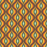 Abstract vector background - seamless vector pattern in brown and orange colors. Abstract retro pattern. Abstract vintage pattern. Geometric vector pattern Stock Photo
