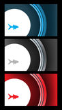Abstract vector background set Stock Photography