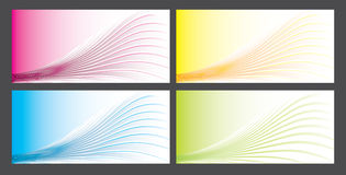 Abstract vector background set Stock Images