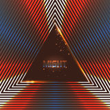 Abstract vector background of shining triangles Stock Images