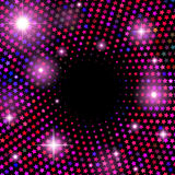 Abstract vector background with shiny stars. And flares Stock Photo