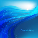 Abstract vector background with sparks and flashes Royalty Free Stock Images
