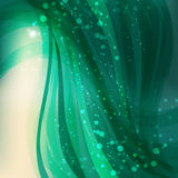 Abstract vector background with sparks and flashes. Abstract green background with sparks and flashes, editable vector Royalty Free Stock Image