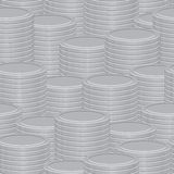 Abstract vector background - a stacks of coins Stock Photo