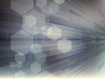 Abstract vector background with technology shapes Stock Photography