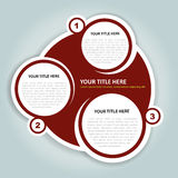 Abstract vector background for the three texts Royalty Free Stock Photos