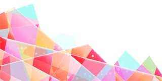 Abstract vector background, translucent triangular splinters with gradient. stock illustration