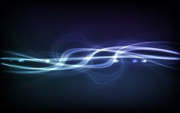Abstract Vector Background - Transparent Lights. On Colorful Wave. EPS10 Royalty Free Stock Photo