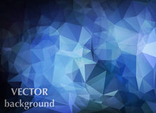 Abstract vector background of triangles polygon wallpaper. Web d Stock Image
