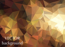 Abstract vector background of triangles polygon wallpaper. Web d. Esign in brown orange autumn colors vector illustration