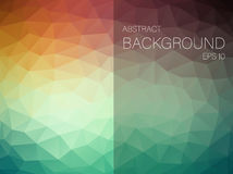 Abstract vector background with triangles. Royalty Free Stock Photo
