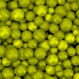 Abstract vector background with various balls Stock Photography