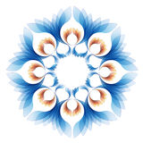 Abstract vector background version one. Vector blue background with leaf motifs formed Stock Photography