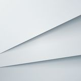 Abstract vector background with white paper layers Royalty Free Stock Photography