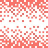 Abstract vector background with white pixels on coral color stock illustration