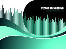 Abstract vector background with white wave pattern Stock Photos