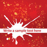 Abstract vector background whith blots. Nice Abstract vector background whith red and white blots Stock Image