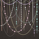 Abstract Vector Background With Hanging Garlands And Lights Royalty Free Stock Images