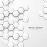 Abstract Vector Background With Hexagon Elements Stock Image