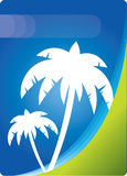 Abstract Vector Background With Palm Trees Royalty Free Stock Photography