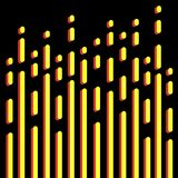 Abstract vector background. Yellow and red lines on dark backdrop. Texture for your design Royalty Free Stock Photos