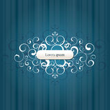 Abstract vector backgrounds. With swirl label Royalty Free Stock Image