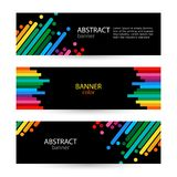 Abstract vector backgrounds for banners Stock Image