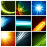 Abstract vector backgrounds collection modern Stock Images