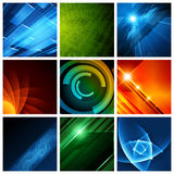 Abstract vector backgrounds collection modern Stock Image