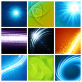 Abstract vector backgrounds collection modern Stock Photography
