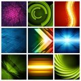 Abstract vector backgrounds collection modern Stock Photos