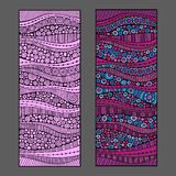 Abstract vector backgrounds. Abstract decorative vector bammers design backgrounds set Stock Photos