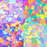 Abstract vector backgrounds. Four abstract vector colorful backgrounds Stock Image