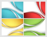 Abstract vector backgrounds set Royalty Free Stock Photo