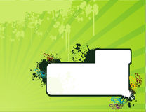 Abstract vector banner. Composition illustration Stock Photography