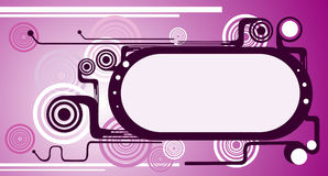 Abstract vector banner. Composition illustration Stock Photos