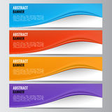 Abstract vector banner business background Stock Images