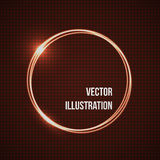 Abstract vector banner with corona rings. Darck Red Circles Background. Royalty Free Stock Photo
