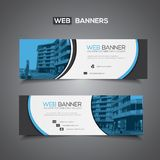 Abstract vector banner for web template or print use as header background Stock Image