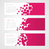 Abstract vector banners colorful background. Pink Stock Photos