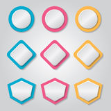 Abstract vector banners set Stock Photo
