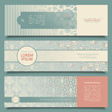 Abstract vector banners Royalty Free Stock Photography