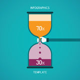 Abstract vector bar diagram infographic template in flat style.  Royalty Free Stock Photos