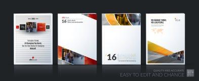 Abstract vector bedrijfsmalplaatje De brochurelay-out, behandelt modern Royalty-vrije Stock Afbeeldingen