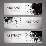 Abstract vector black explosion banners Stock Image