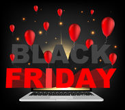 Abstract vector 2016 Black Friday layout background. For creative art design, list, page, mockup theme style, banner Royalty Free Stock Photos