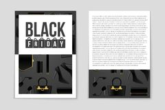 Abstract vector Black Friday layout background. For creative art design, list, page, mockup theme style, banner, concept. Abstract vector 2016 Black Friday Stock Image