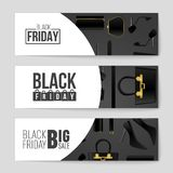 Abstract vector Black Friday layout background. For creative art design, list, page, mockup theme style, banner, concept. Abstract vector 2016 Black Friday Stock Images